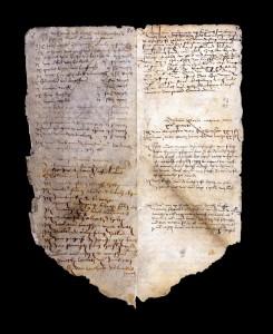 Auf der linken Bildseite die sechzehnte und somit letzte Seite der Abrechnungen aus dem Jahr 1515 und auf der rechten Seite die erste Seite beginnend mit 1504.
