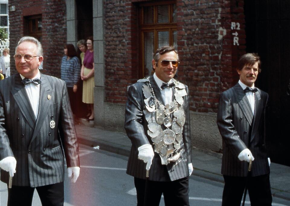 1991 König Hans-Jakob Gerads, Minister Ludwig Wimmers, Günther Gerads