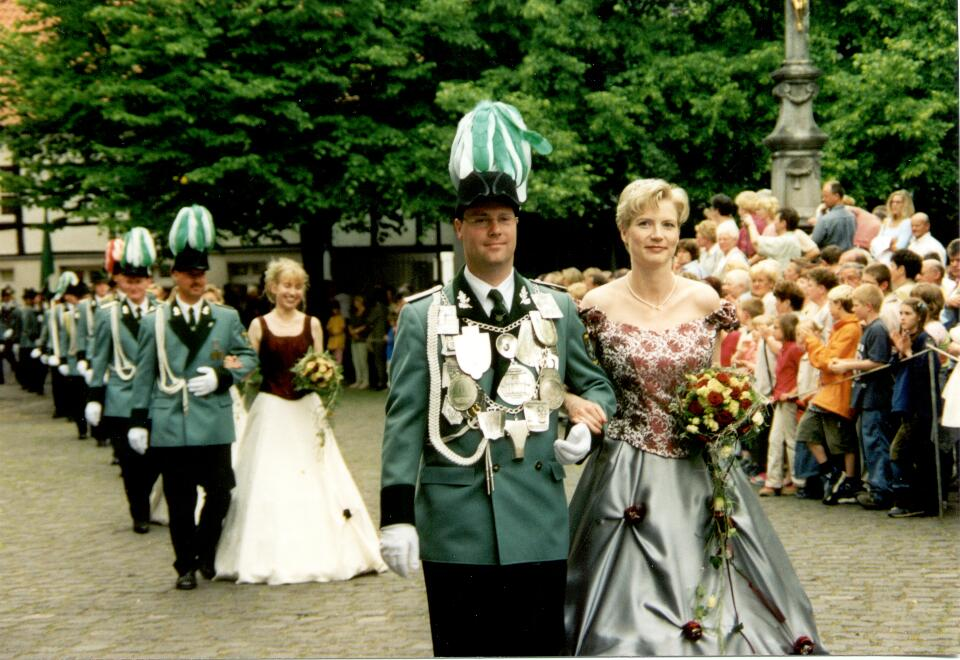2002 König Harald Huppertz, Minister Udo Florack, Bernd Schlitt