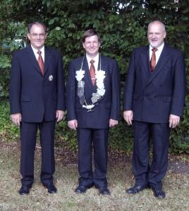 Bezirkskönig Werner Zohren, Minister Joseph Jöcken und Wilfried Hermanns