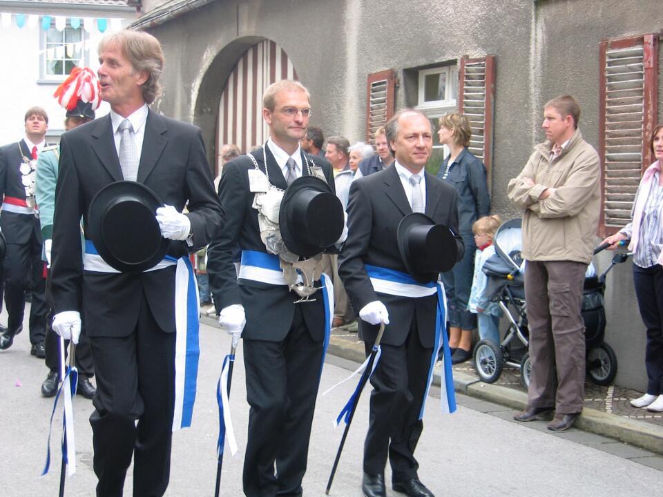 2004 König Michael Schlagheck, Minister Georg Wimmers, Hans Winkens
