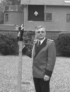 Hans-Jakob Gerads vor dem Vogelschuss