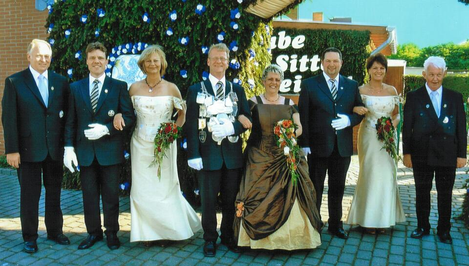 2008 König Ralf Düchting, Minister Bernd Heinen, Karsten Schumacher