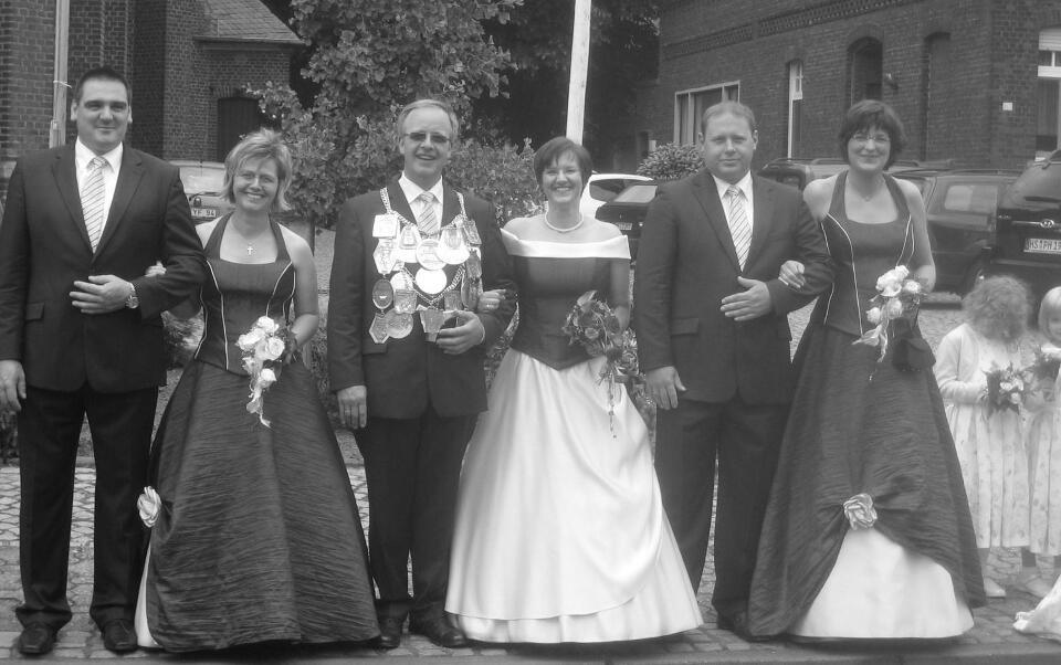Königsgefolge vor der Parade