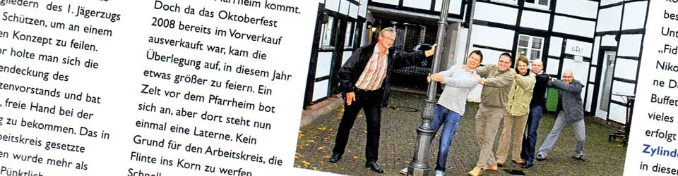 Stadtmagazin Wegerg, 18.09.2009 (Ausschnitt des Presseartikels)