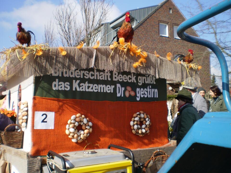 Unser Wagen beim Karnevalszug