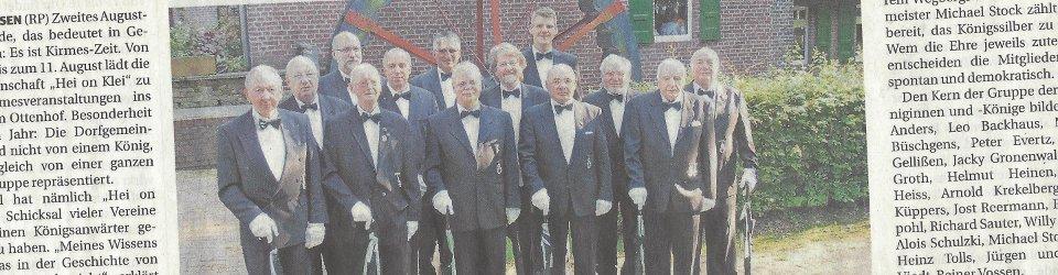 Rheinische Post, 08.08.2014 (Ausschnitt des Presseartikels, Foto  Hei on Klei)