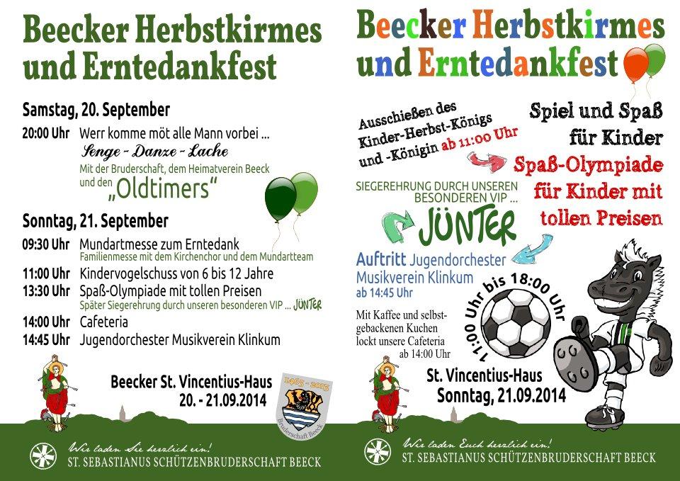 2014 - Herbstkirmes - Plakate