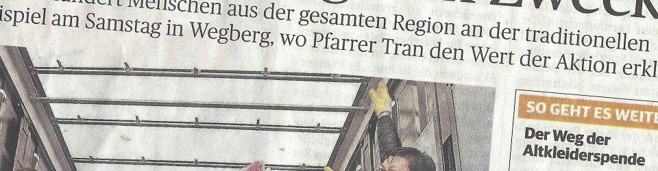 Rheinische Post, 17.11.2014 (Ausschnitt des Presseartikels von Kristina Zippel, Foto Jürgen Laaser)