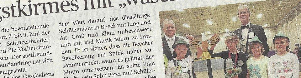 Rheinische Post, 02.06.2014 (Ausschnitt des Presseartikels, Foto  Jürgen Laaser)