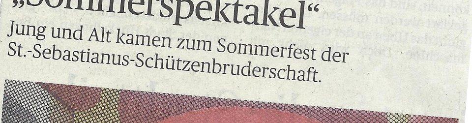 Rheinische Post, 28.07.2014 (Ausschnitt des Presseartikels, Foto Uwe Heldens)