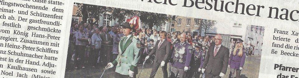 Rheinische Post, 27.05.2015 (Ausschnitt des Presseartikels, Foto Uwe Heldens)