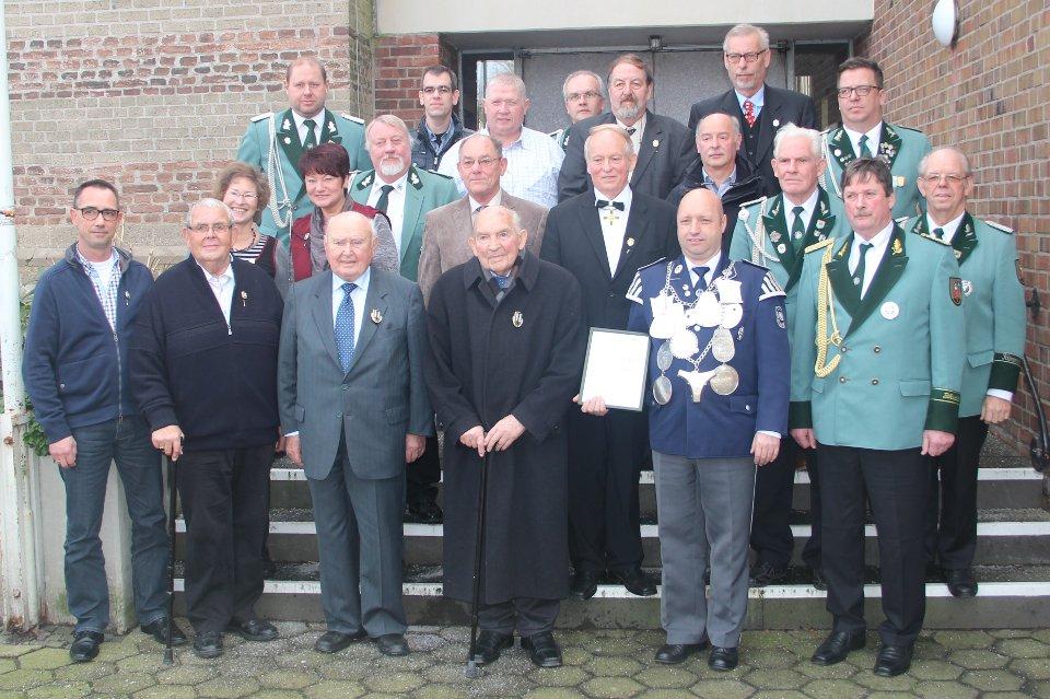 Die Geehrten der Jahreshauptversammlung 2016