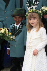 Kinderkönigspaar  Rukshan Premakumar und Anna-Lena Kremer
