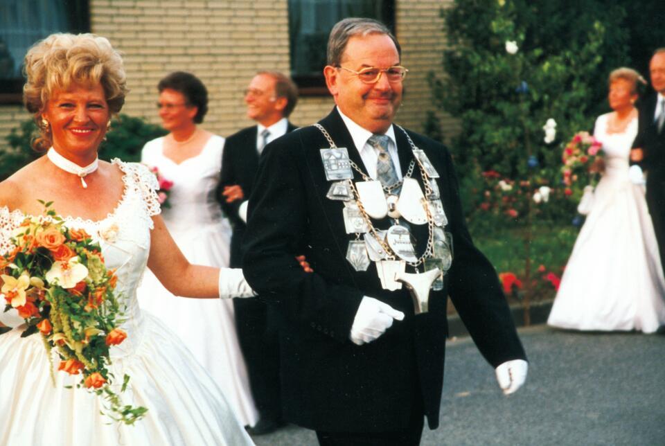 1998 König Werner Horbach, Minister Josef Bertrams, Wilfried Hutmacher