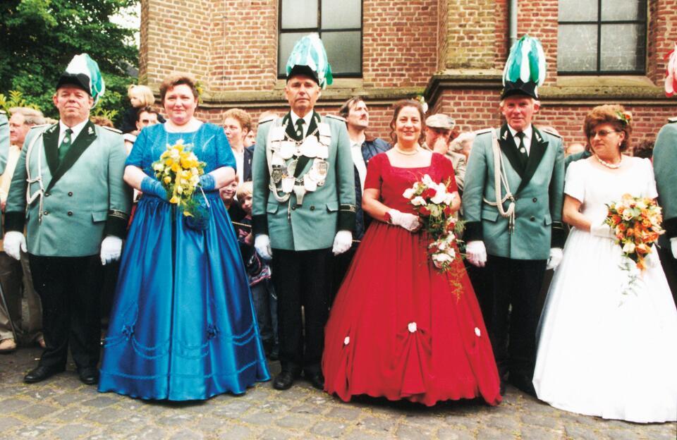 1999 König Klaus Merz, Minister Bernd Limburg, Hermann-Josef Honold