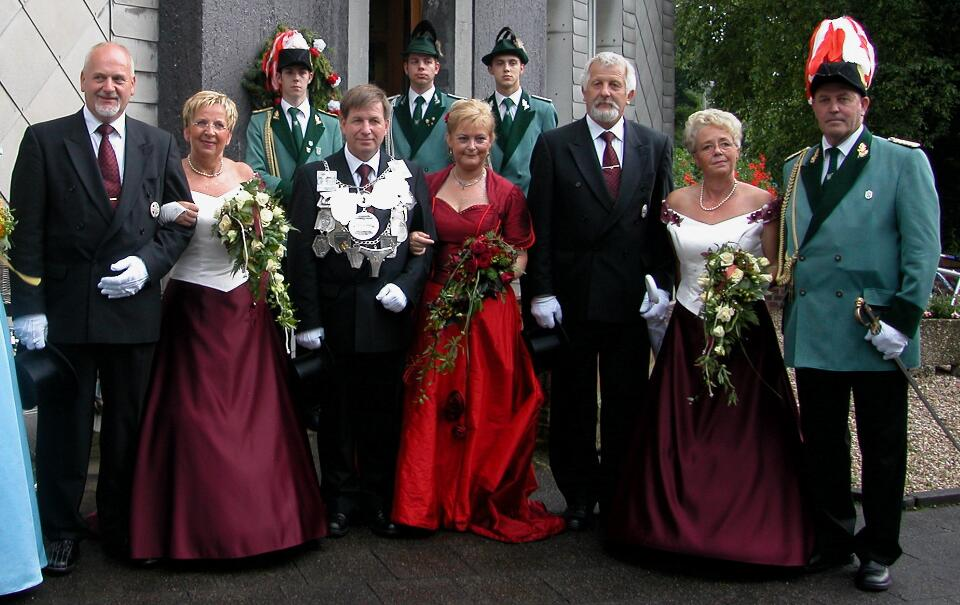 2003 König Werner Zohren, Minister Hans-Peter Hennekes, Wilfried Hermanns.