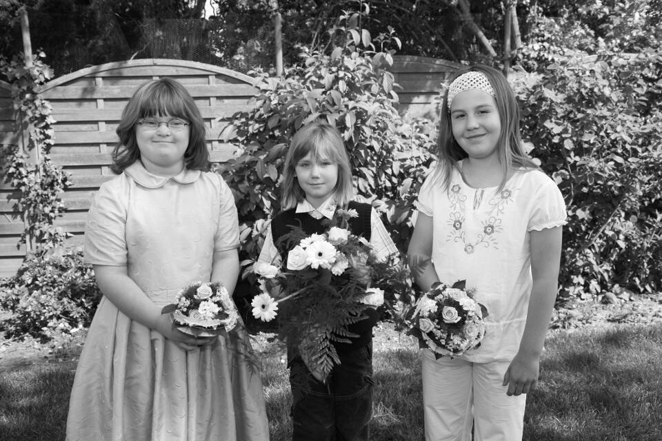 Die Blumenkinder des Königshauses mit der Tochter des Königspaares Lisa Vollbrecht