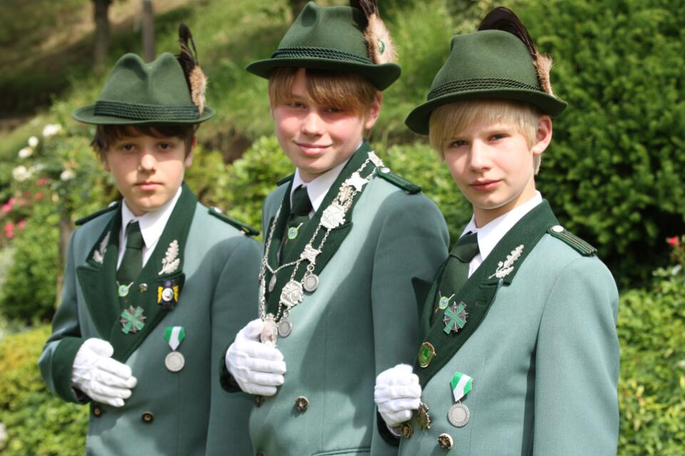 2011 Schülerprinz Maximilian Schreinemacher, Minister Robin Krappen und Christoph Wolters