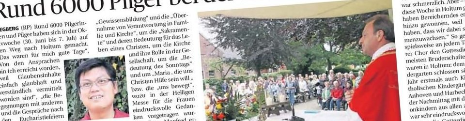 Rheinische Post, 12.07.2013 (Ausschnitt des Presseartikels, Foto Jürgen Laaser)