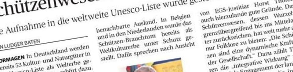 Rheinische Post, 26.11.2013 (Ausschnitt des Presseartikels)