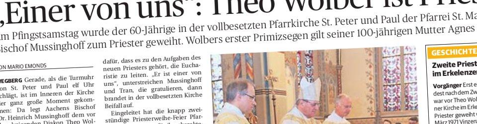 Rheinische Post, 21.05.2013 (Ausschnitt des Presseartikels von Mario Emonds, Foto  Jürgen Laaser)