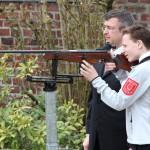Nikolas Schlitt beim Schuss