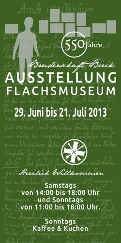 2013 - Ausstellung 550 Jahre - Pfarrbrief