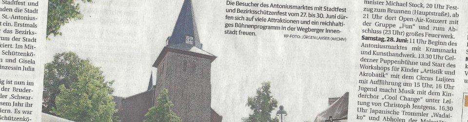 Rheinische Post, 19.06.2014 (Ausschnitt des Presseartikels von Michael Heckers, Foto  Jürgen Laaser, Archiv)