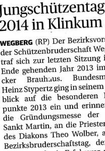 Rheinische Post, 06.01.2014 (Ausschnitt des Presseartikels)