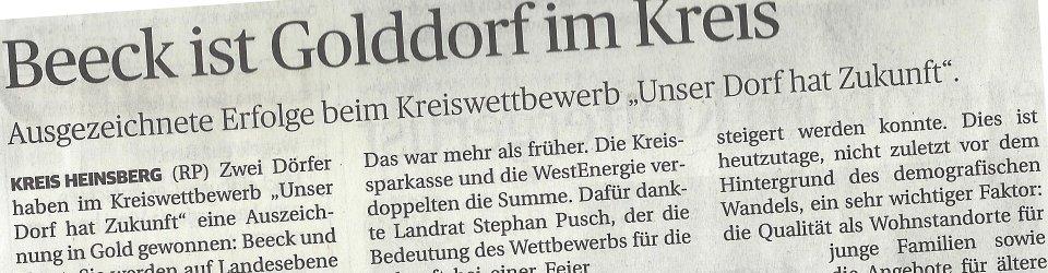 Rheinische Post, 18.06.2014 (Ausschnitt des Presseartikels, Archivfoto  Jürgen Laaser)
