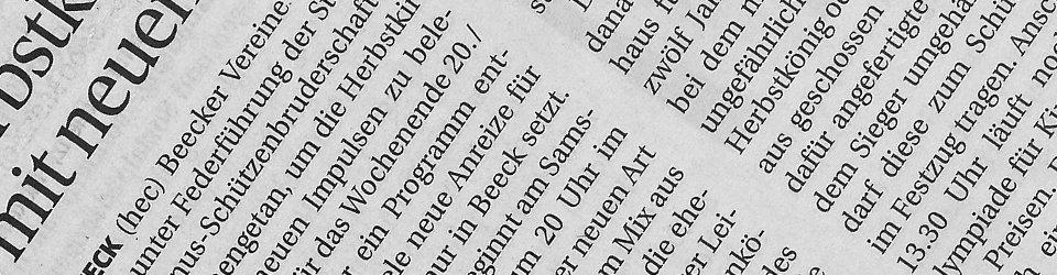 Rheinische Post, 08.09.2014 (Ausschnitt des Presseartikels)