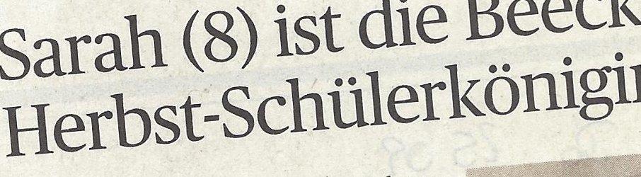 Rheinische Post, 25.09.2014 (Ausschnitt des Presseartikels, Foto  Bruderschaft)