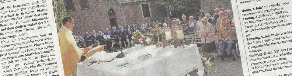 Rheinische Post, 03.07.2014 (Ausschnitt des Presseartikels, Foto  Jürgen Laaser)
