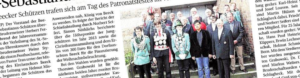 Rheinische Post, 21.01.2014 (Ausschnitt des Presseartikels)