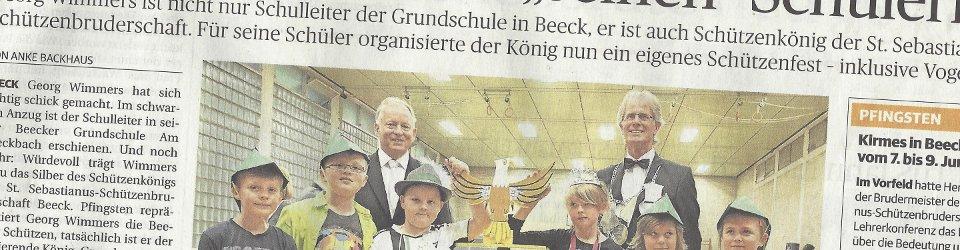 Rheinische Post, 29.05.2014 (Ausschnitt des Presseartikels von Anke Backhaus, Foto  Jürgen Laaser)