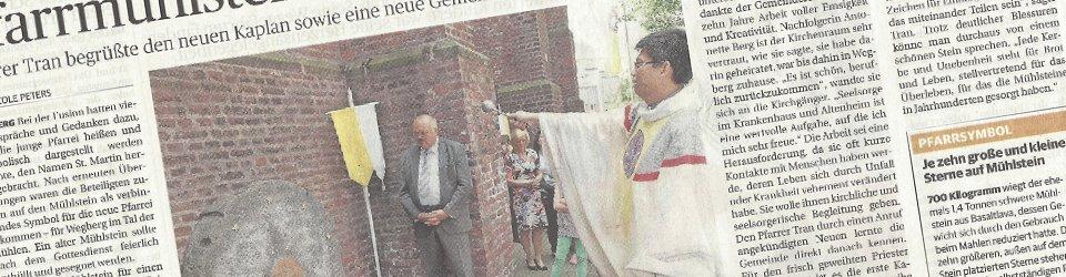 Rheinische Post, 23.06.2014 (Ausschnitt des Presseartikels von Nicole Peters, Foto Jürgen Laaser)