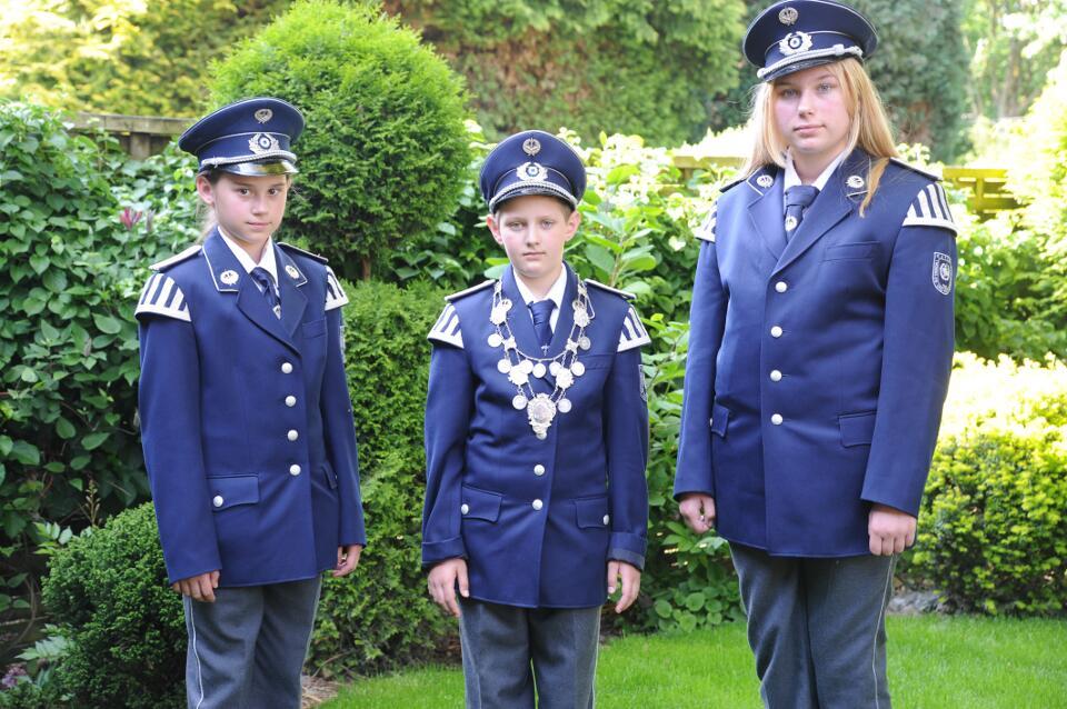 Schülerprinz Noel Jauch, Schülerprinzenminister Viktoria Gruschka und Jaqueline Gruschka