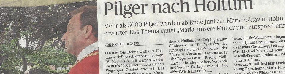 Rheinische Post, 03.06.2016 (Ausschnitt des Presseartikels von Michael Heckers, Archivfoto Jürgen Laaser)