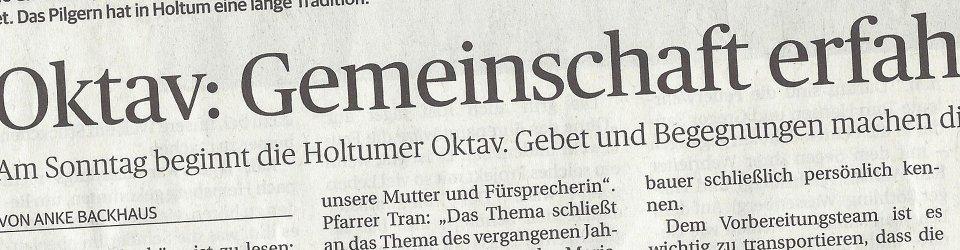 Rheinische Post, 21.06.2016 (Ausschnitt des Presseartikels von Anke Backhaus)